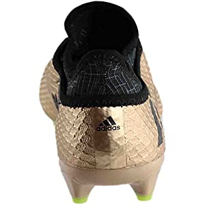 Adidas Messi 16+ PUREAGILITY FG Cleat Men's Soccer 10.5 Copper Metallic-Black-Solar Green