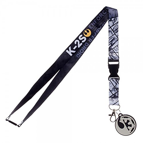 Star Wars Rogue One K-2S Lanyard with Rubber Charm and Collectible (The Office Halloween Episode Joker)