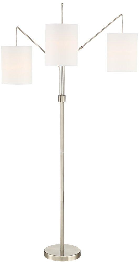 Serra Brushed Steel 3 Lights Arc Floor Lamp