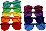 Color Therapy Glasses Round Style Set of 9 Colors [Also Available in Set of 7]
