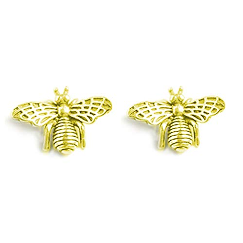 - FarryDream 925 Sterling Silver Cute Bumble Bee Earrings Studs for Women Teen Girls Animal Earrings (14K Yellow Gold Bee Earrings)