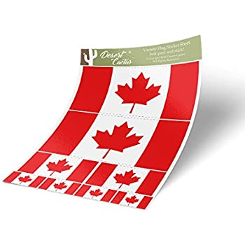 Canada Flag DecalMaple Leaf Canadian Car Window Door Bumper Vinyl Sticker