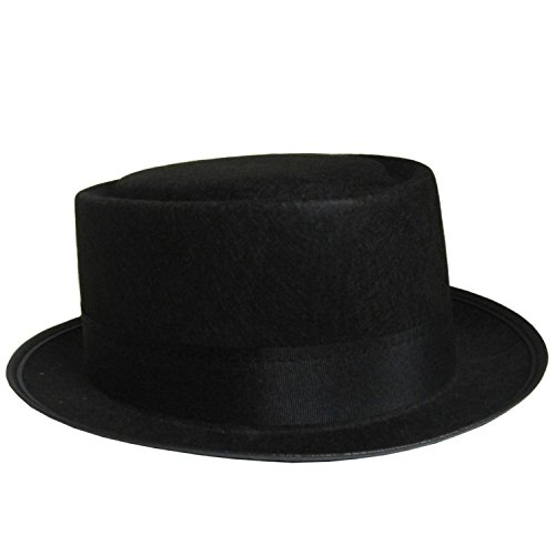 Walter White Style Black Pork Pie Hat