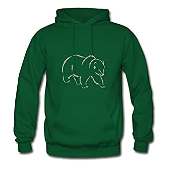 X-large Bear 8_ Printed And Let You Handle It Creative Women Green Sweatshirts