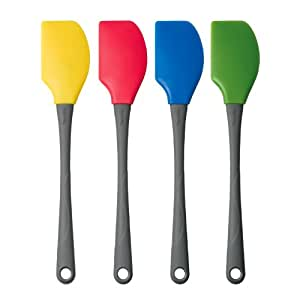 Tovolo 12 inch silicone spatula set set of 4 for Kitchen set 008 82