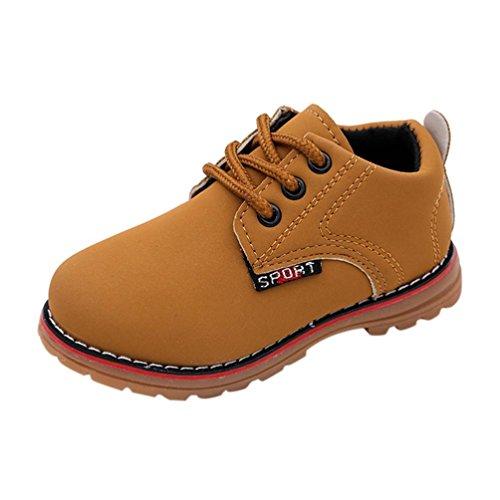 Filles Garçons Armée Manadlian Bébé Chaudes Enfant Style Martin Jaune De Hiver Boot Chaussures 1X1Axt