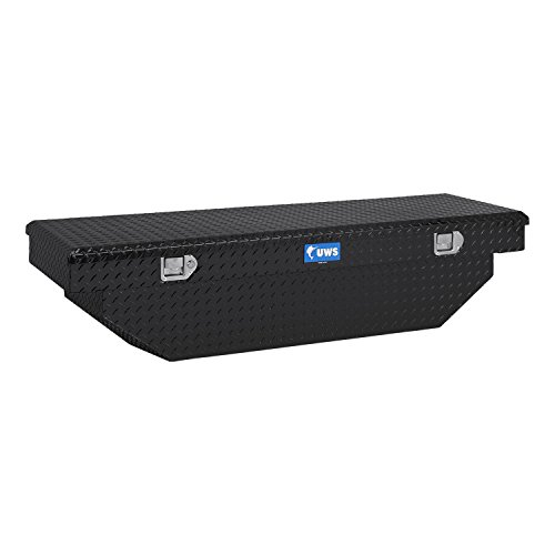 UWS TBS60ABLK Single Lid Angled Black Series Truck Box Uws Black Single Lid