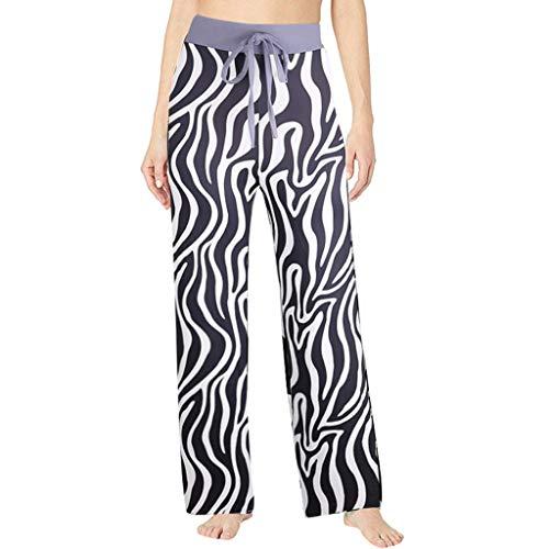 Eaktool Casual Pajama Pant,Women's Summer Printed Comfortable Casual Beach Pajama Pants Sport Yoga Trousers Black