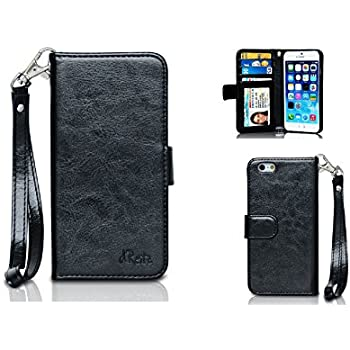 "iPhone 6 Phone Wallet Case By d'Reitz! (4.7"" iPhone) Premium Smooth PU Leather Wallet Cover For Your iPhone 6! 100%!"