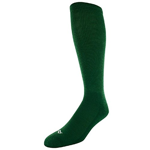 Sof Sole All Sport Over-the-Calf Team Athletic Performance Socks for Men and Youth (2 Pairs), Child 13-Youth 4, Kelly Green