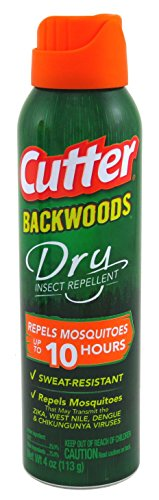 Cutter Backwoods Dry Aerosol 25% DEET, 4 oz
