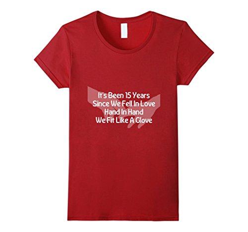 Womens 15th Anniversary Poem T-Shirt Wedding Marriage Hus...
