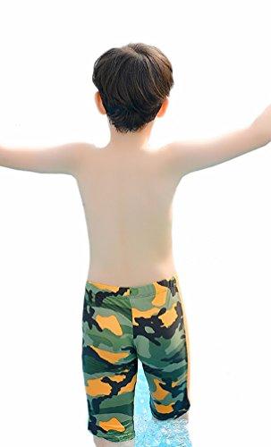 WUAMBO Boy's Kids Camouflage Swim Shorts Orange 8-10 Years (55-66lb) by WUAMBO (Image #2)