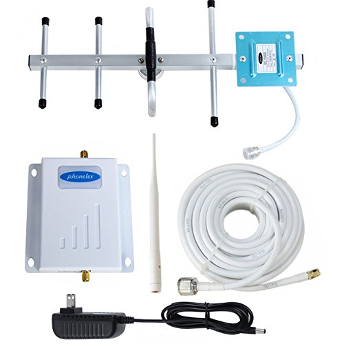 Phonelex Verizon Cell Phone Signal Booster 4G LTE Cell Phone Signal Amplifier Verizon Mobile Phone Signal Booster Repeater Band13 700Mhz FDD with Whip and Yagi Directional Antenna Kits for Home usePho