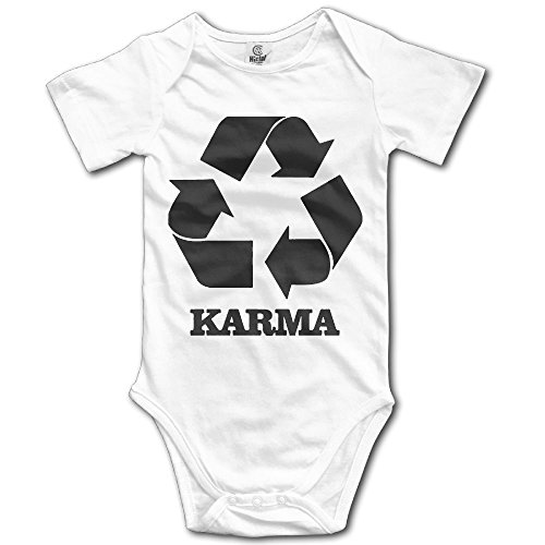 SmallHan Karma Recycle Unisex Funny Newborn Baby Romper Baby Girl Bodysuit 6 M White