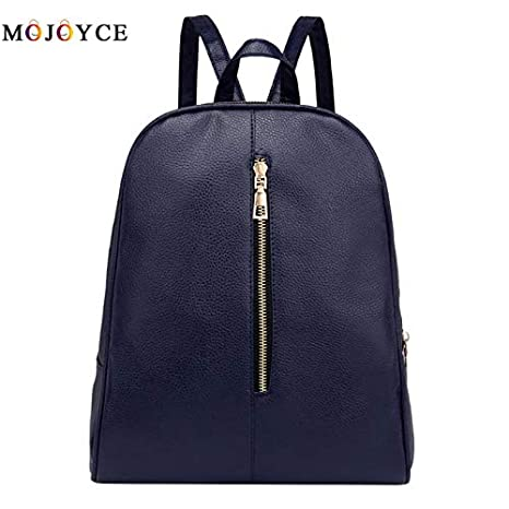 Amazon.com: Designer Women PU Leather Backpack Teenagers Girls Zipper Simple Solid School Preppy Students Shoulder Bagpack Mochila: Kitchen & Dining