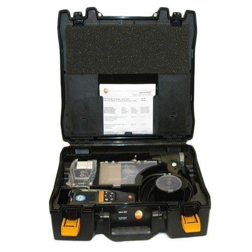 (Testo 0563 3220 71 320 Combustion Analyzer with Printer, 2.56