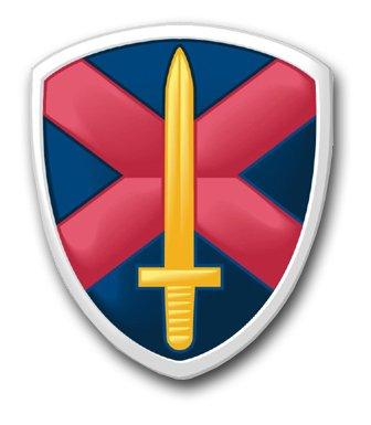 US Army Shield Metal Auto Emblem