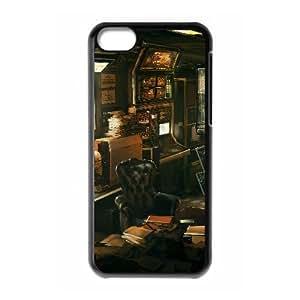 L8P53 deus ex funda de casos revolución humana funda iPhone X0E2SZ 5c teléfono celular cubren WY6OMB0EJ negro