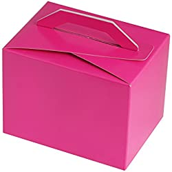 BalsaCircle 100 Fuchsia Wedding Favors Tote Boxes Handles Wedding Party Birthday Candy Gifts Decorations Supplies Wholesale