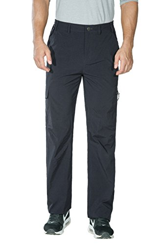 Unitop Men's Lightweight Water Resistant Quick Dry Hiking Cargo Pants