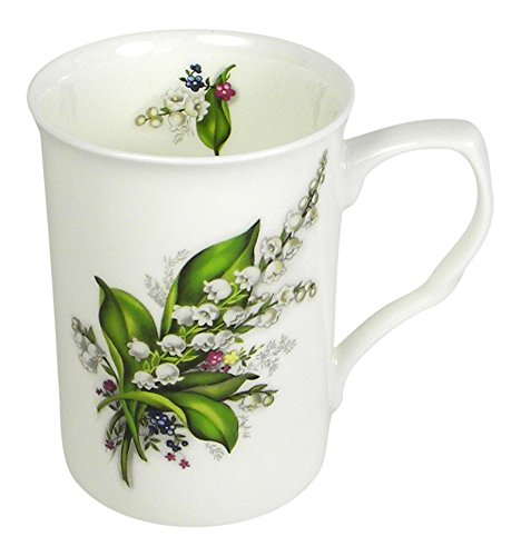 Adderley Lily of the Valley English Tea or Coffee Mug Fine Bone China