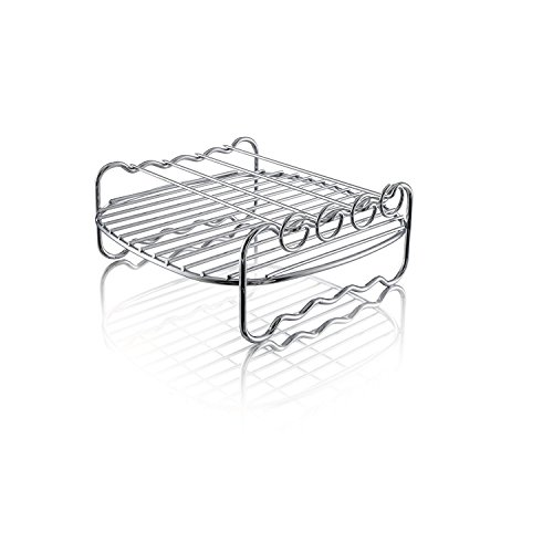 # 1 Best Air Fryer - Double Layer Rack with Skewers – A Universal Accessory Compatible with Phillips , Gowise etc – Fitting all 3.7 – 5.8 QT Air Fryers – Bonus Free Recipe Book
