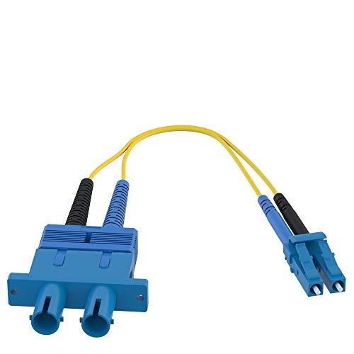 CableRack LC to ST Fiber Adapter 9/125 Singlemode Duplex Converter Dongle