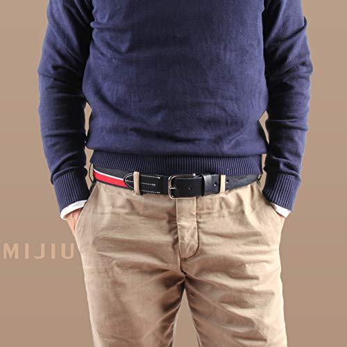 Elastico 4 Fibbia Tessuto Confezione Regalo Desiderio Stripe Cinture Uomo Casual Multicolore Pantaloni Per Di qxT8OE