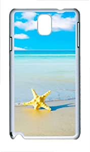 Starfish Beach Polycarbonate Hard Case Cover for Samsung Galaxy Note III/ Note 3 / N9000 White