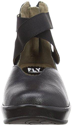 Flats Closed Women's London Black Bane896fly Black 000 Toe Fly Ballet qYAP7pwn