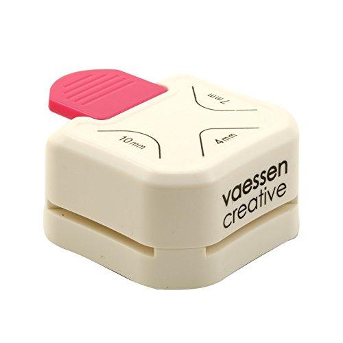Vaessen Creative 3-in-1 Corner Rounder Paper Punch, White