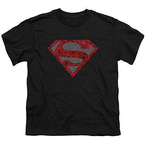 (Superman Iconic DC Comics Character Elephant Rose Symbol Big Boys Youth T-Shirt)