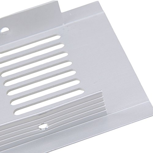 80x300mm Silver Aluminium Air Vent Louvred Grill Cover Ventilation Grille Pack of 2