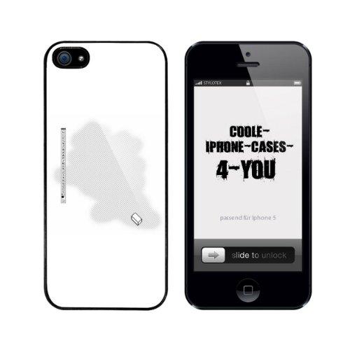Iphone 5 / 5S Schutzhülle Eraser - schwarzer Rahmen