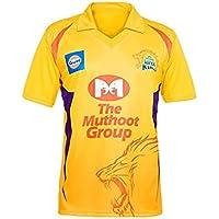 Sportyway Kids Chennai Super Kings IPL Kids Jersy Printed DHONI 7 Back Side
