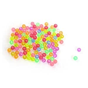 Jardin Aquarium Decorative 120-Piece Plastic Beads Ornament for Aquarium, Colorful