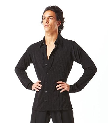 Taka Dance Black Men's Latin Shirt