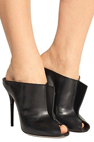 Kevin Fashion Klsdn217 Donna Slip-on In Pelle Club Party Scarpe Da Sera Nero
