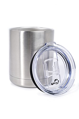 10 OZ Stainless High Strength Steel Double-Wall Vacuum Insulated Lowball Thermos Tumbler Perfect For Hot & Cold Drinks Indoor & ()