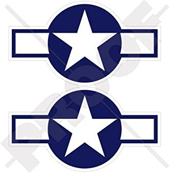 US ARMY AIR FORCE USAAF AIRPLANE ROUNDEL INSIGNIA LOGO WWII Vinyl Decal Sticker