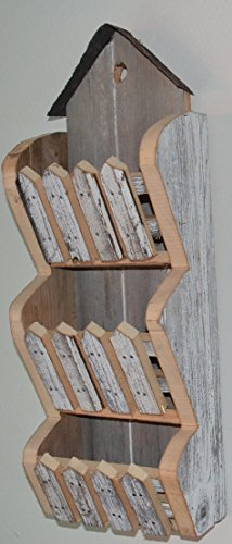 Sorter Letter (Amish Handmade Reclaimed Barnwood Bill Invoice or Mail Holder Wall Sorter From Barn Wood in Excess of 100 Years Old)
