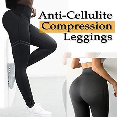 baskciry Women High Waist Anti-Cellulite Compression Slim Leggings for Tummy Control and Running
