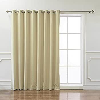 Best Home Fashion Wide Width Thermal Insulated Blackout Curtain   Antique  Bronze Grommet Top   Beige