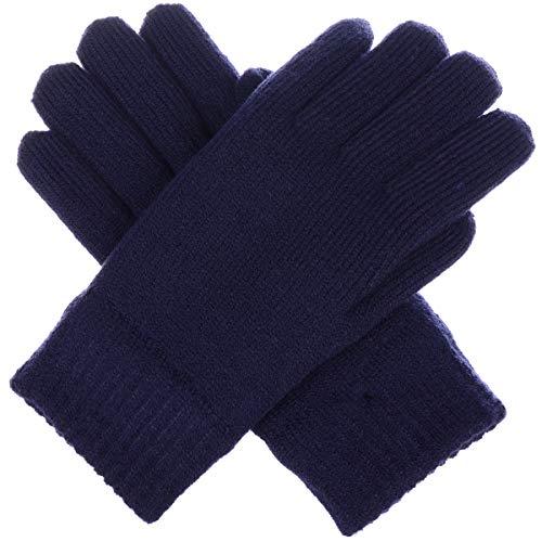 (BYOS Winter Women's Toasty Warm Plush Fleece Lined Knit Gloves in Solid &)