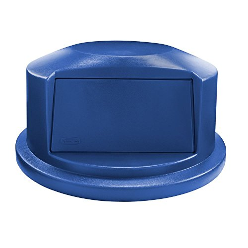 Lid Dome Containers (Rubbermaid Commercial Heavy-Duty BRUTE Dome Swing Top Door Lid for 32 Gallon Waste/Utility Containers, Plastic, Blue (1829398))