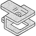 Plywood Clip 1/2in Galv Steel