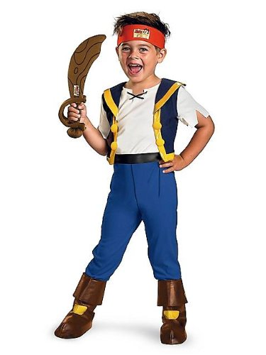 [Disney's Deluxe Jake and the Neverland Pirates Jake Boy's Costume (4-6)] (Jake And The Pirate Costumes)