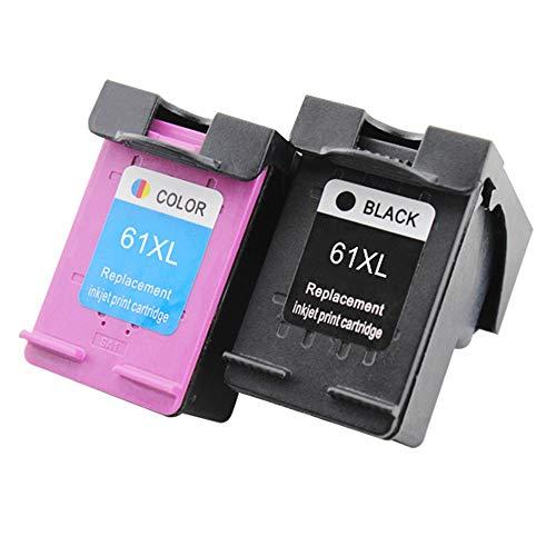 Wolfgray - Cartucho de tinta de repuesto para HP 61XL 61 XL de alto rendimiento HP Envy 4500 5530 5534 5535, HP OfficeJet...