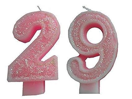 2 Piezas Vela de Cumpleaños con Derzahl 29